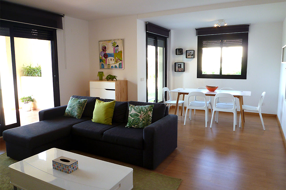 Apartment Estepona Lounge and dining area