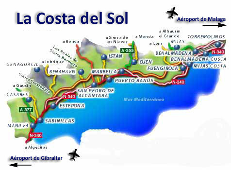 Carte De La Costa Del Sol