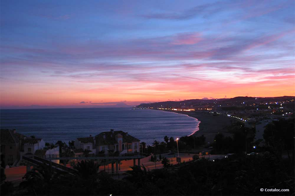 Puerto La Duquesa Costa del Sol at night