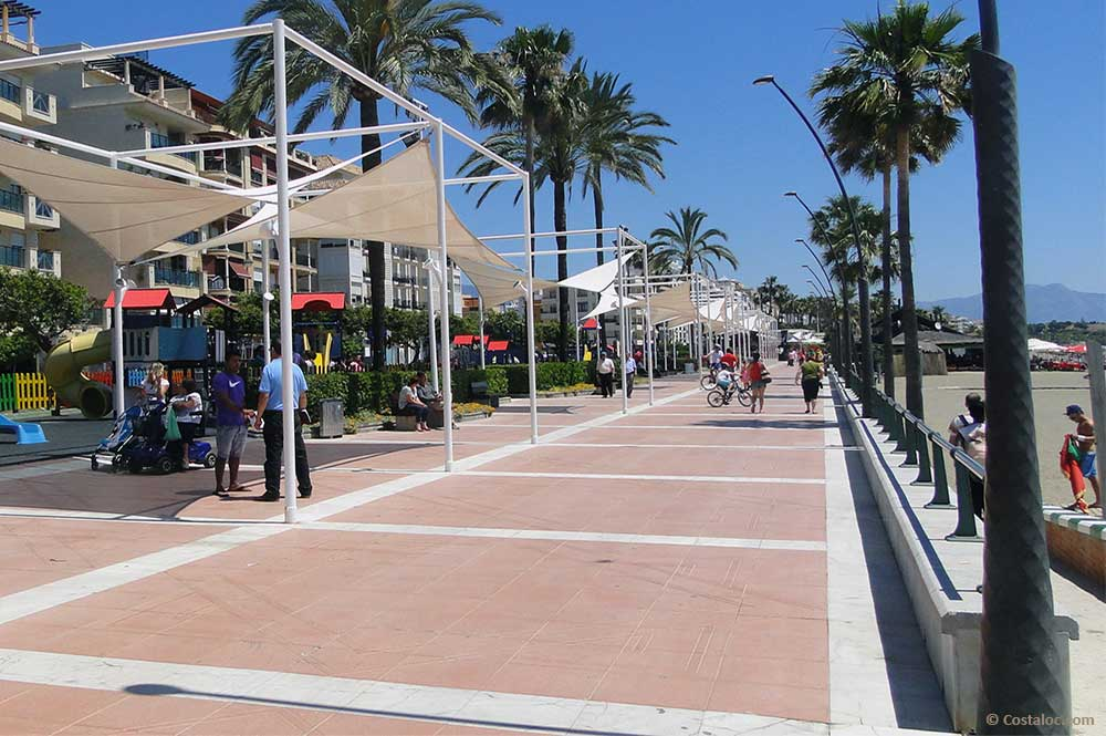 Estepona Costa del Sol sea side promenade